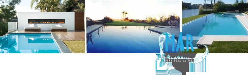 Construimos piscinas con desborde infinito